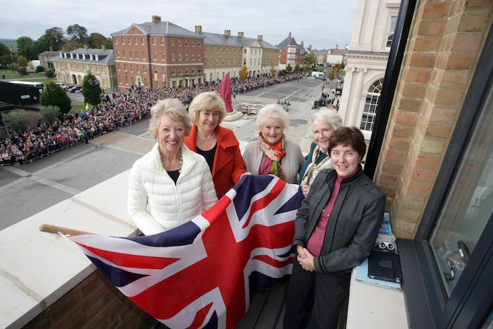 Poundbury retirees celebrate a visit from the Queen