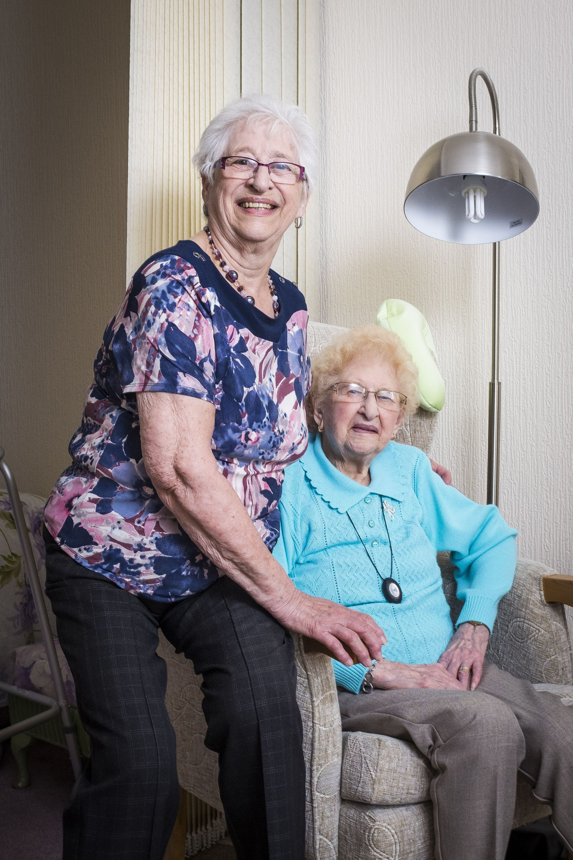 Thelma Foxhall and Hilda Hammock