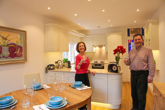 Their new light, modern kitchen designed to take them into old age